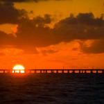 Bridge in the Florida Keys and Key West at Sunset