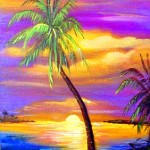 """Sunset"" oil on canvas by Key West artist (and my personal friend) Janis Jo Stevens"