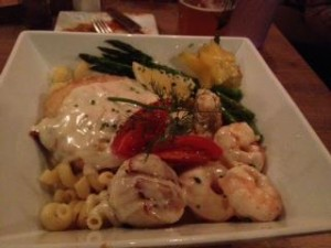 seafood combination pasta at Square Grouper