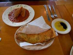 Abbondanza Bread and fried cheese