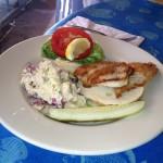 Yellowtail Snapper Fish Sandwich at Salute!