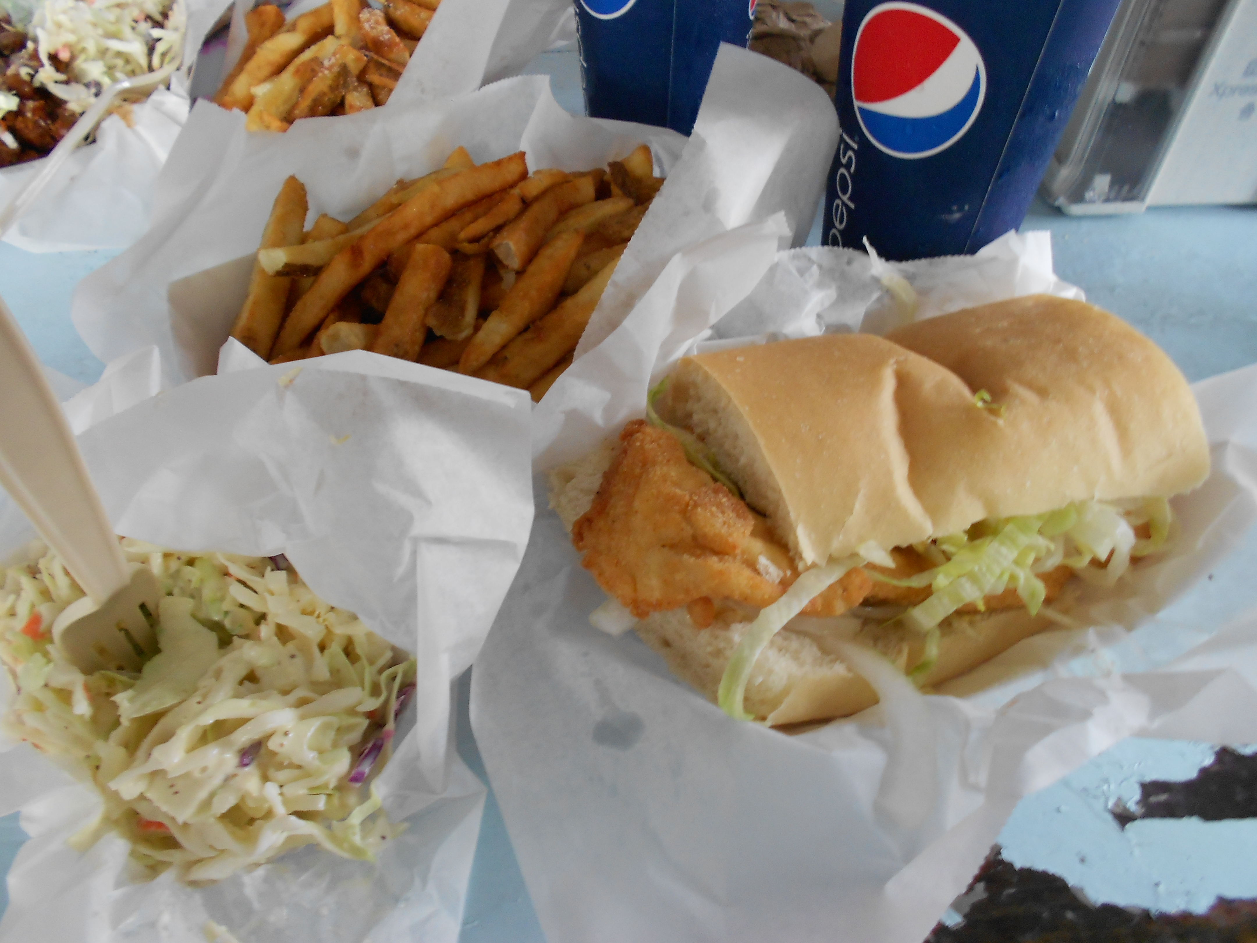 B.O.'s Fish Wagon Fried Grouper Sandwich