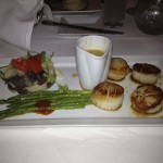 Scallops at the Grand Cafe beautifully presented.