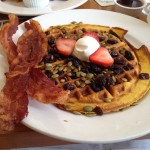 The perfect fall breakfast; Sarabeth's Pumpkin Waffle.