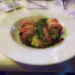 Shrimp with Risotto at Square One