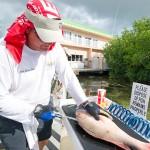 Capt. Steven Lamp of Dream Catcher Charters filleting a mutton snapper