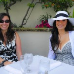 Island Genn and her sister Amy having Easter Day Brunch.