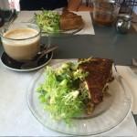 Frenchie's Cafe veggie quiche is amazingly tasty!