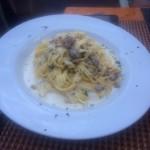 The delicious alfredo dish