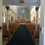 This is the inside of St. Mary Star of the Sea Basilica.