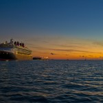 A Cruise Ship in Key West at Sunset. Photo by Steven Lamp.