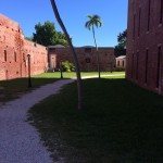 The courtyard of the East Martello Fort and Museum.