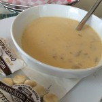 Delicious creamy conch chowder from the Harbourview Cafe located at the Pier House Resort and Caribbean Spa.