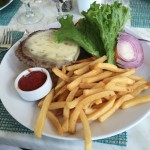 The Harbourview Cafe Burger.