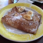 The banana Nutella crepes at Banana Cafe.