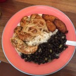 Delicious chicken with brand and rice at havana Key West on Duval Street.