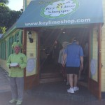 Here is Kermit standing in front of his shoppe on the corner of Elizabeth and Greens Streets in Key West.