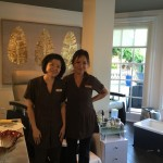 The lovely ladies of the Pier House Resort Caribbean Spa nail salon.