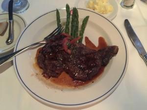 Ribeye steak at A&B Lobster House.