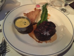 Filet Mignon at the A&B Lobster House