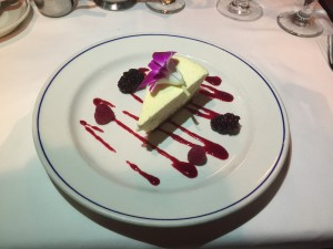 Cheesecake at the A&B Lobster House