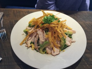 The chicken avocado salad at the Waterfront Brewery.