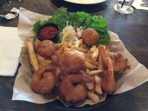The fried shrimp and scallops from the Waterfront Brewery in Key West.