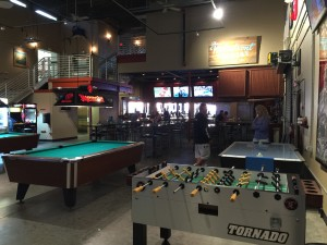 Game area of the Waterfront Brewery.