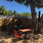 You can enjoy a coffee and a croissant on Stock Island at Croissant de France in their adorable courtyard.