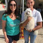 Island  Genn and Indiana Bones at the Screwworm Checkpoint with Karen Rozensher, DVM.