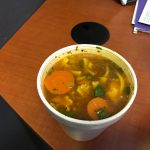 The chicken soup as served at Kim's Kuban.