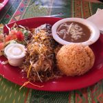 Chile rellenos with chicken at Lupida's in Key West.