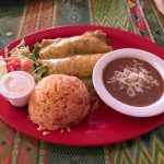 Chicken enchiladas with green sauce at Lupida's in Key West.