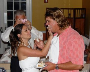 Island Genn married her dream guy Capt. Steven on a boat and had the reception at the Key West Golf Club.