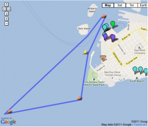 Map of key west power boat races racecourse