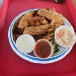 Key largo fisheries fried combo basket shrimp fish clams