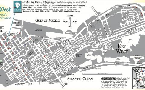 Key West Visitors Map