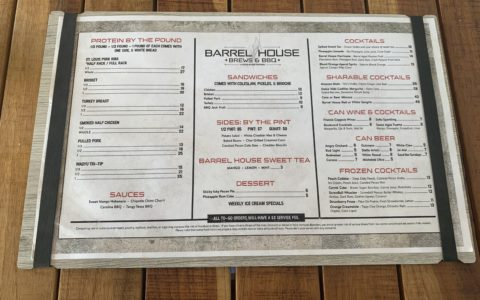 Menu, Barrel House, Barbecue, Key West, Stock Island Marina Village