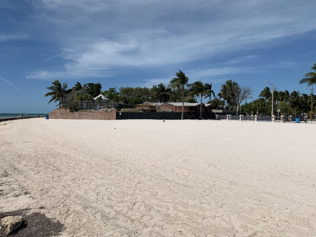Higgs Beach, the African Cemetery, and the Martello Tower, home to the Key West Garden Club.