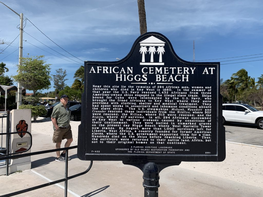 Higgs Beach African Cemetery Sign