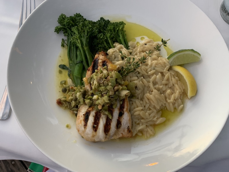 Louie's Backyard Key West Fine Dining Restaurant Swordfish